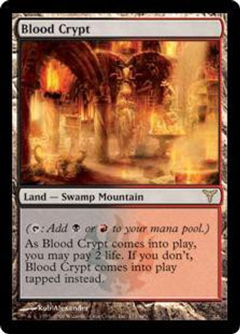 MtG Dissension Rare Blood Crypt #171