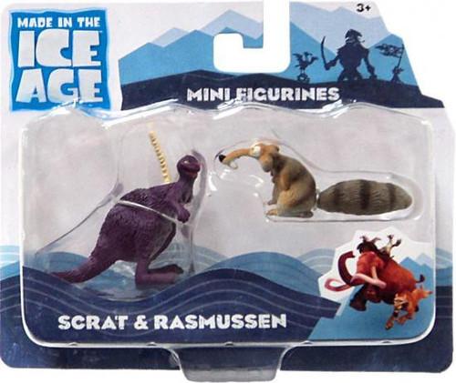 Ice Age Continental Drift Scrat & Rasmussen Mini Figure 2-Pack