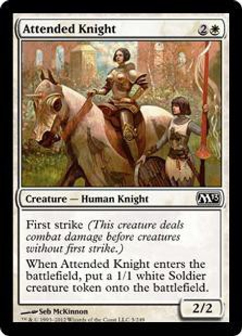 MtG 2013 Core Set Common Attended Knight #5