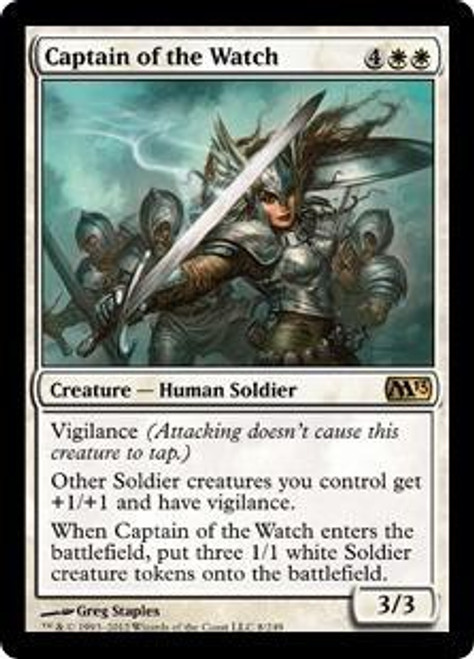 MtG 2013 Core Set Rare Captain of the Watch #8