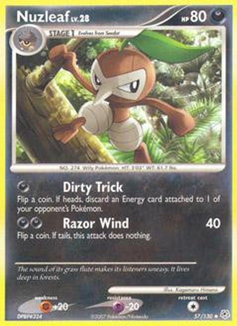 Pokemon Diamond & Pearl Uncommon Nuzleaf #57