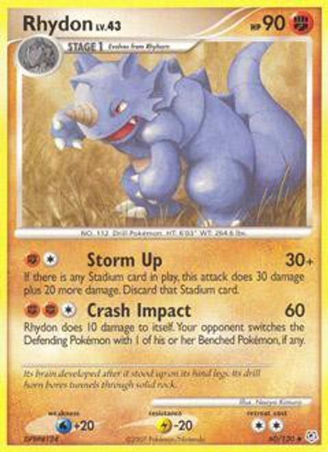 Pokemon Diamond & Pearl Uncommon Rhydon #60
