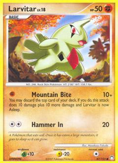 Pokemon Diamond & Pearl Mysterious Treasures Common Larvitar #87