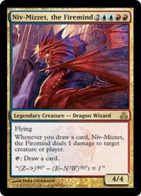 MtG Guildpact Rare Niv-Mizzet, the Firemind #123 [Slightly Played]