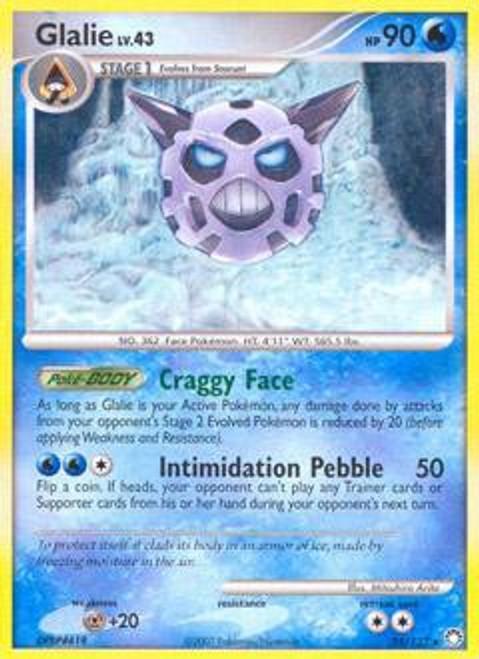 Pokemon Diamond & Pearl Mysterious Treasures Rare Glalie #25