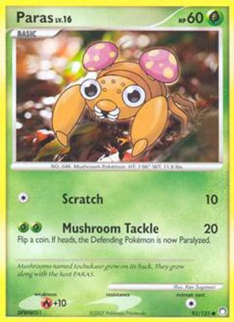 Pokemon Diamond & Pearl Mysterious Treasures Common Paras #92