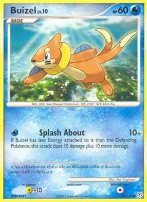 Pokemon Diamond & Pearl Common Buizel #72
