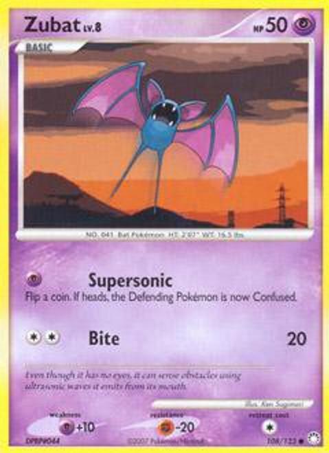 Pokemon Diamond & Pearl Mysterious Treasures Common Zubat #108