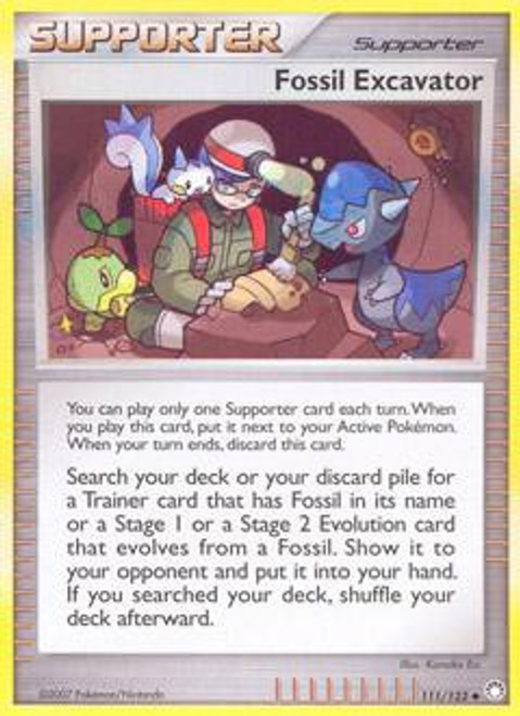 Pokemon Diamond & Pearl Mysterious Treasures Uncommon Fossil Excavator #111