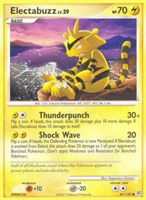 Pokemon Diamond & Pearl Common Electabuzz #81