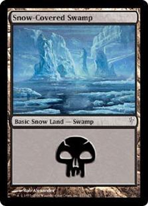 MtG Coldsnap Common Snow-Covered Swamp #153