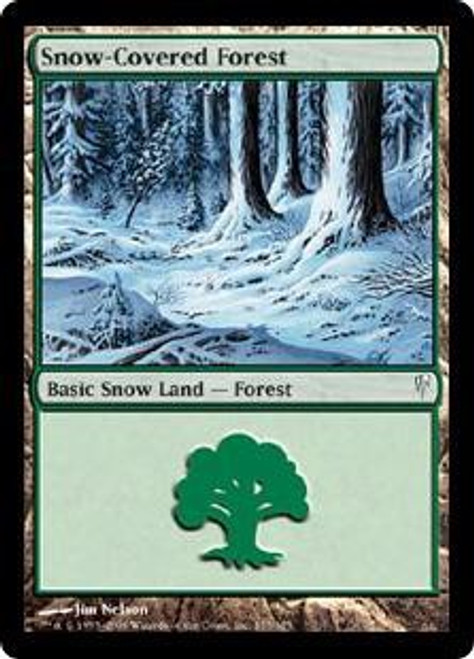 MtG Coldsnap Common Snow-Covered Forest #155