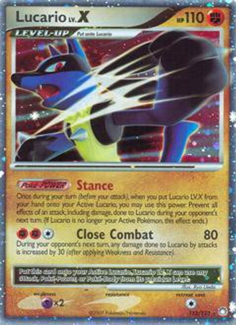Pokemon Diamond & Pearl Mysterious Treasures Ultra Rare Lucario LV.X #122