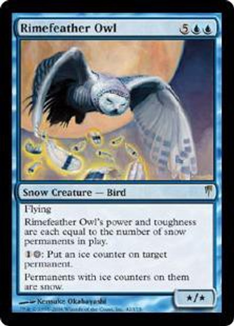 MtG Coldsnap Rare Rimefeather Owl #42