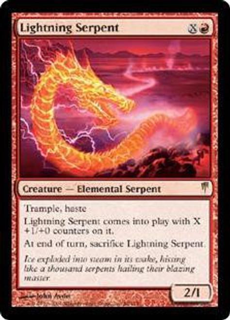 MtG Coldsnap Rare Lightning Serpent #88