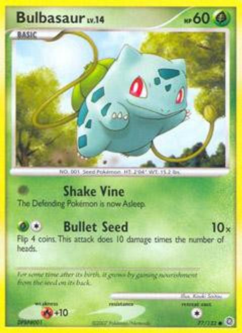 Pokemon Diamond & Pearl Secret Wonders Common Bulbasaur #77