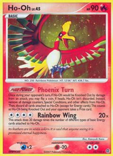 Pokemon Diamond & Pearl Secret Wonders Rare Ho-oh #10