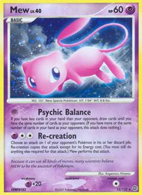 Pokemon Diamond & Pearl Secret Wonders Holo Rare Mew #15