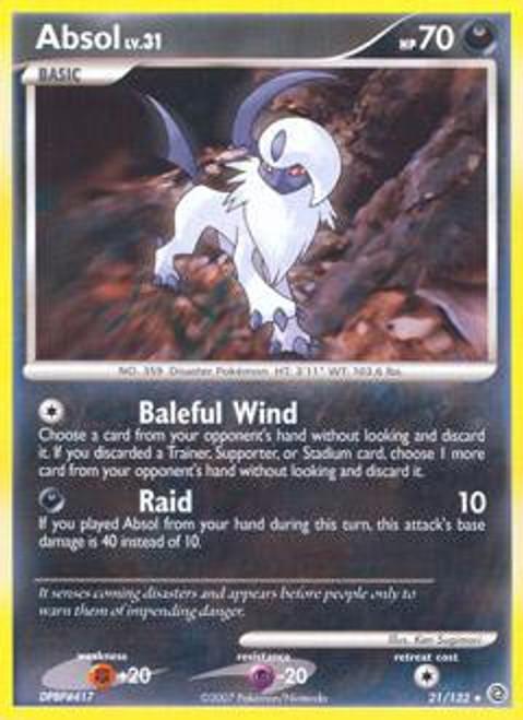 Pokemon Diamond & Pearl Secret Wonders Rare Absol #21