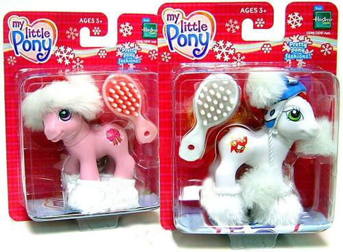 My Little Pony Classic Set of Both Holiday Christmas Mini Pony Figures