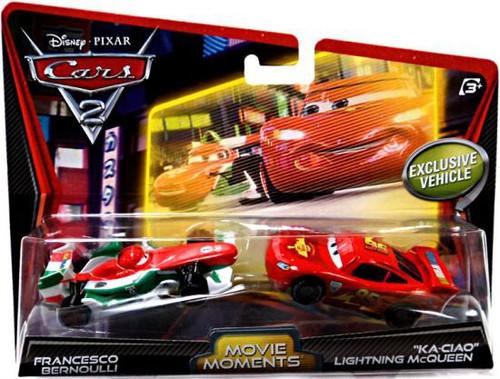 Disney / Pixar Cars Cars 2 Francesco Bernoulli & Ka-Ciao Lightning McQueen Diecast Car 2-Pack