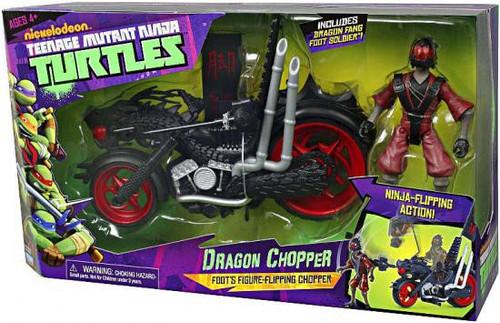 Teenage Mutant Ninja Turtles Nickelodeon Dragon Chopper Action Figure Vehicle