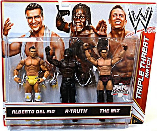 WWE Wrestling Alberto Del Rio, R-Truth & The Miz Exclusive Action Figure 3-Pack [Triple Threat Match]
