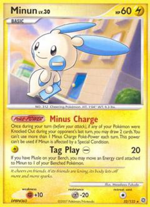 Pokemon Diamond & Pearl Secret Wonders Rare Minun #32