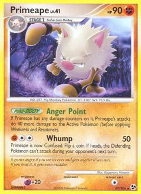 Pokemon Diamond & Pearl Great Encounters Rare Primeape #27