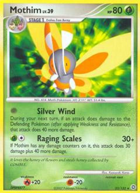 Pokemon Diamond & Pearl Secret Wonders Rare Mothim #33