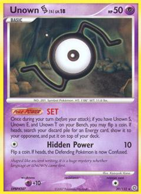 Pokemon Diamond & Pearl Secret Wonders Rare Unown S #39