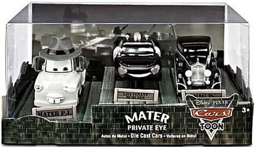 Disney / Pixar Cars Cars Toon 1:43 Multi-Packs Mater Private Eye Exclusive Diecast Car Set