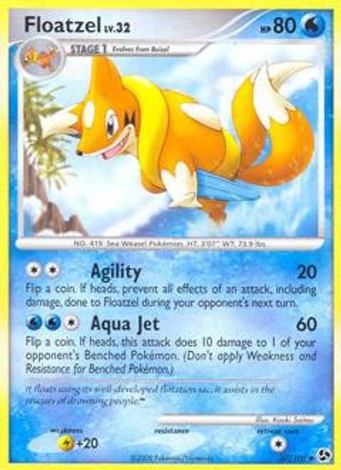 Pokemon Diamond & Pearl Great Encounters Uncommon Floatzel #37
