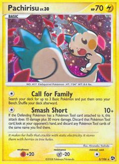 Pokemon Diamond & Pearl Great Encounters Rare Pachirisu #5