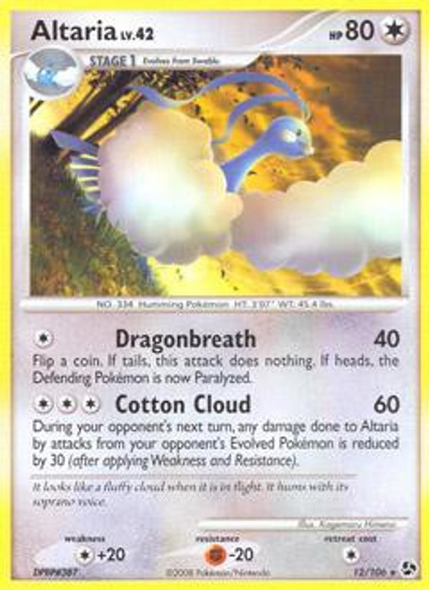 Pokemon Diamond & Pearl Great Encounters Rare Altaria #12