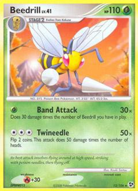 Pokemon Diamond & Pearl Great Encounters Rare Beedrill #13
