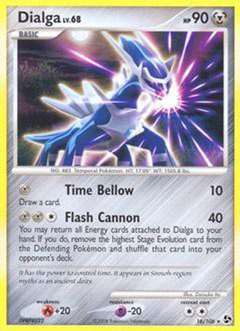 Pokemon Diamond & Pearl Great Encounters Rare Dialga #16