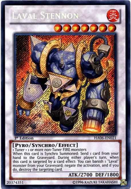 YuGiOh Trading Card Game Hidden Arsenal 6: Omega XYZ Secret Rare Laval Stennon HA06-EN021