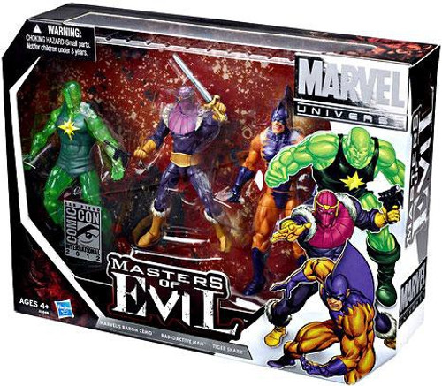 Marvel Universe Zemo, Tiger Shark & Radioactive Man Exclusive Action Figure 3-Pack [Masters of Evil]