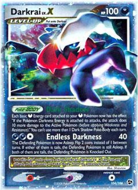 Pokemon Diamond & Pearl Great Encounters Ultra Rare Darkrai LV.X #104