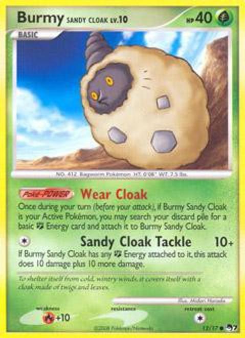 Pokemon Trading Card Game Organized Play Series 7 Common Burmy Sandy Cloak #12