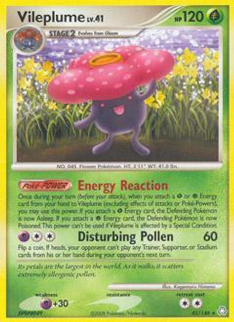 Pokemon Diamond & Pearl Legends Awakened Rare Vileplume #45