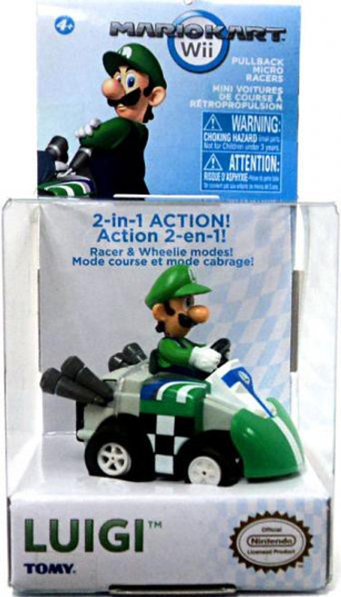 Super Mario Mario Kart Luigi Pull Back Racer