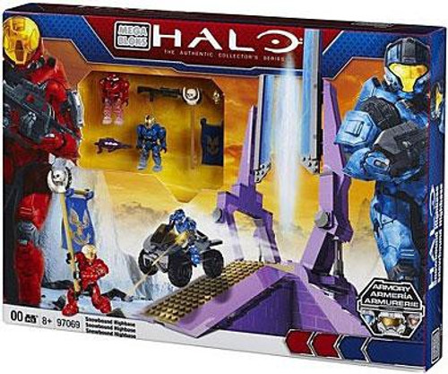 Mega Bloks Halo The Authentic Collector's Series Versus: Snowbound Highbase Exclusive Set #97069