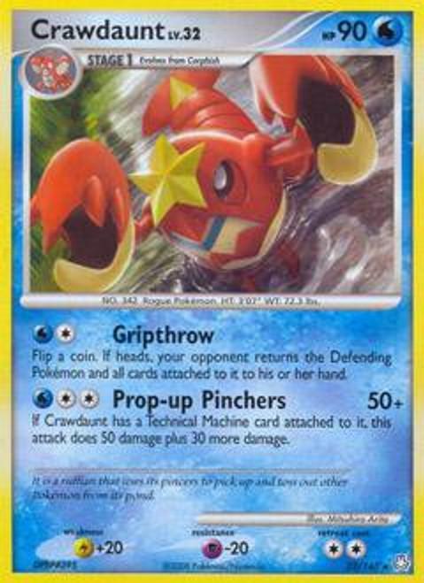 Pokemon Diamond & Pearl Legends Awakened Rare Crawdaunt #22