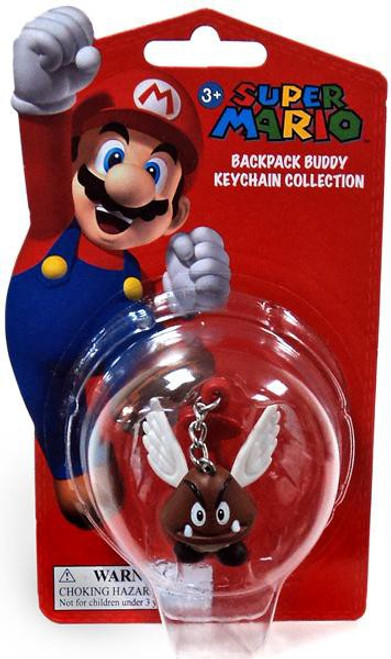 Super Mario Backpack Buddy Collection Paragoomba 2-Inch Keychain