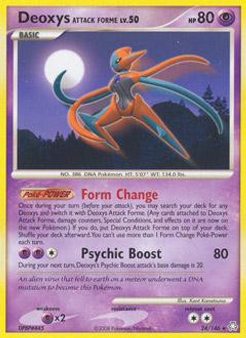 Pokemon Diamond & Pearl Legends Awakened Rare Deoxys Attack Forme #24