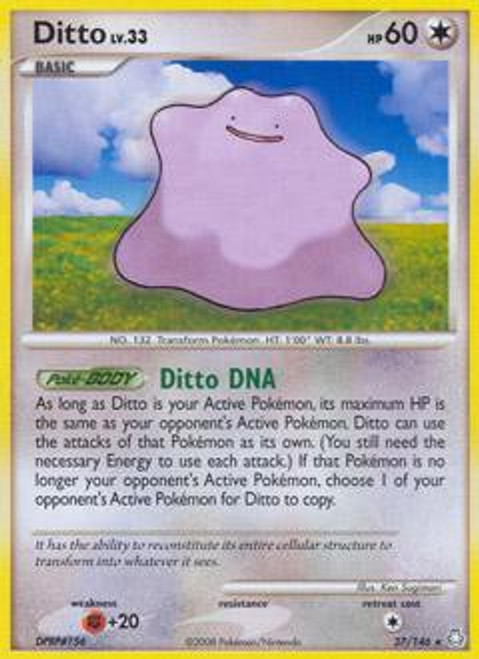 Pokemon Diamond & Pearl Legends Awakened Rare Ditto #27