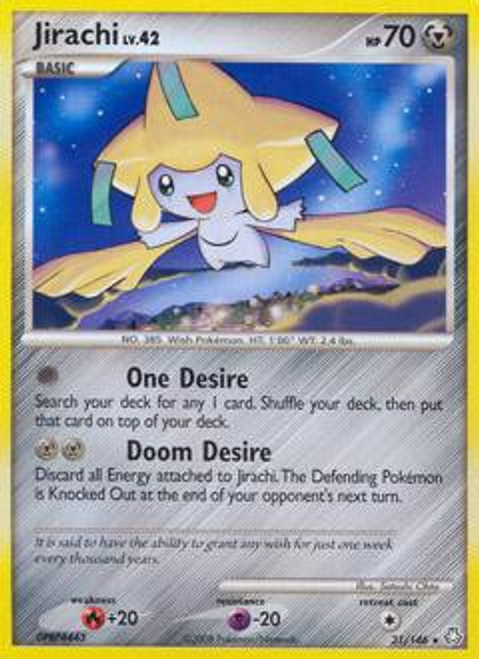 Pokemon Diamond & Pearl Legends Awakened Rare Jirachi #31