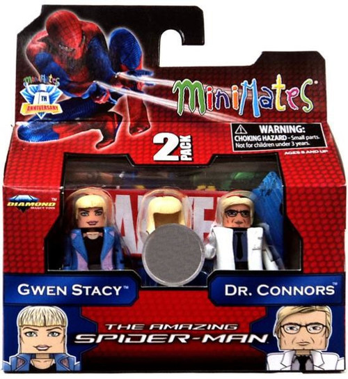 The Amazing Spider-Man Minimates Exclusives Gwen Stacy & Dr. Connors Exclusive Minifigure 2-Pack
